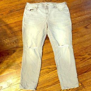 Old Navy grey denim jeans size 18 Regular